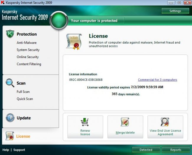 Kaspersky Internet Security 2009 8 0 0 454(Keys)