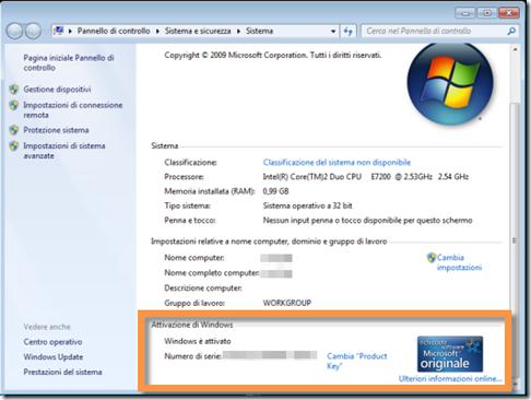 Come controllare lo stato di attivazione di Windows