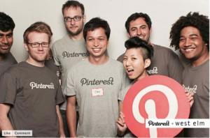 Il team di Pinterest con il co-fondatore Ben Silbermann al centro