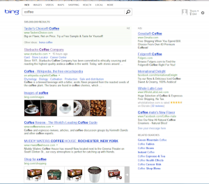 Volunia usa Bing