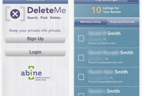 DeleteMe Mobile: nuova app per cancellazione dati da siti web