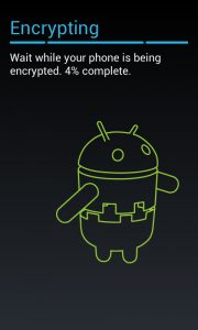 Il processo di encrypting nativo di Android può richiedere anche oltre un'ora, a seconda della mole di dati da cifrare