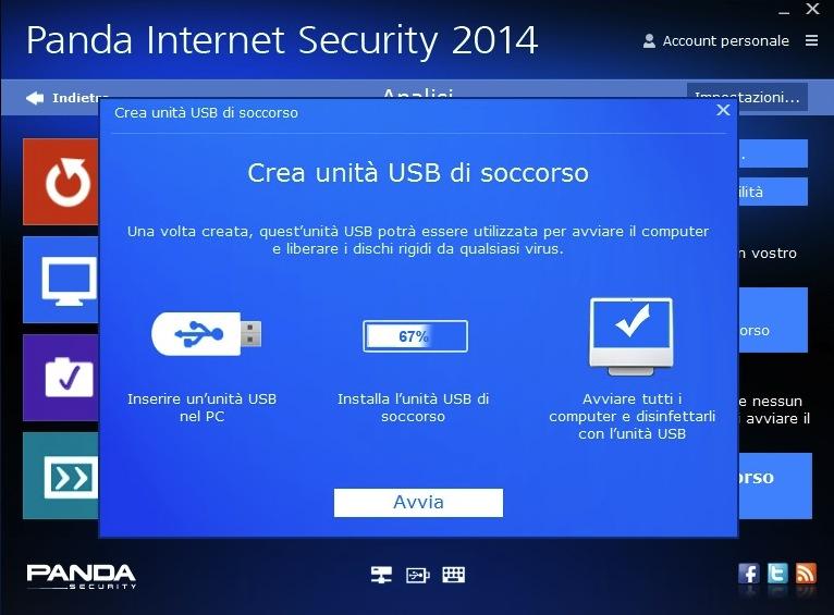 avvio soccorso usb anda internet security 2014