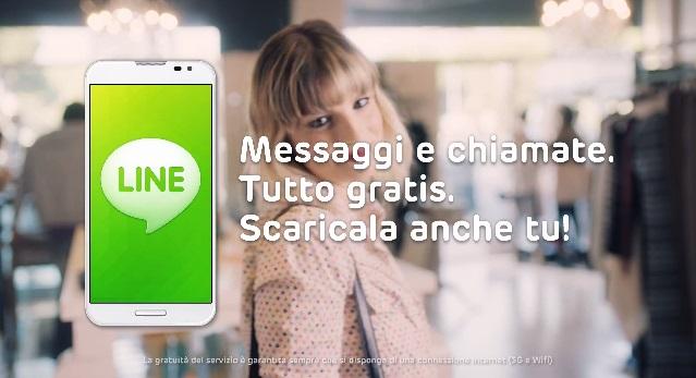 Lo spot italiano dell'applicazione Line