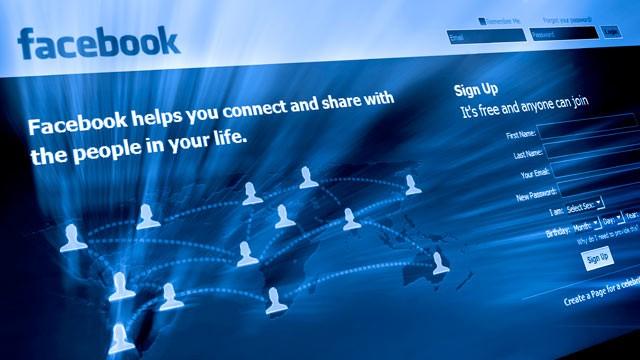 Facebook, schermata di accesso