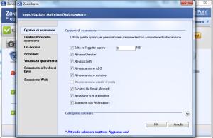 zona alarm antivirus - impostazioni