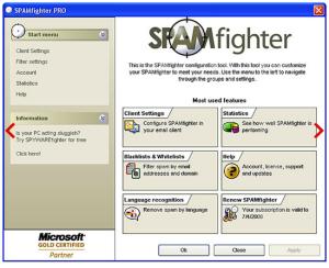Un potente software anti-spam certificato Microsoft