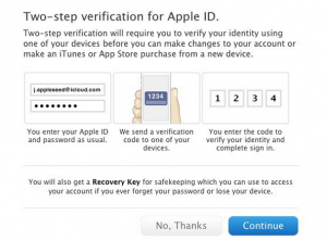 Verifica a due step per il proprio Apple ID