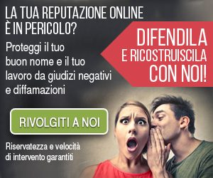 Servizio reputazione online banner 300x250
