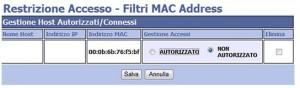 Controllo accesso MAC