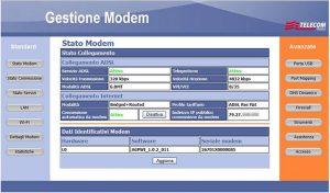 Pannello di gestione ultimi modelli modem Telecom