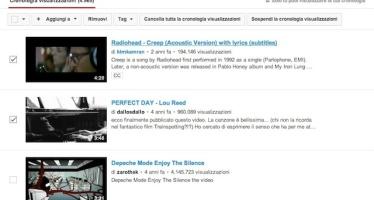 YouTube. Come cancellare la cronologia delle ricerche