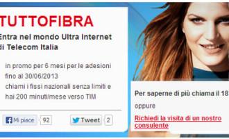 Telecom Tuttofibra: internet/chiamate illimitate? non proprio