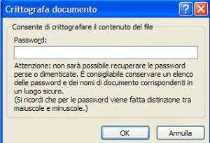 Aggiungere una crittografia al documento Word