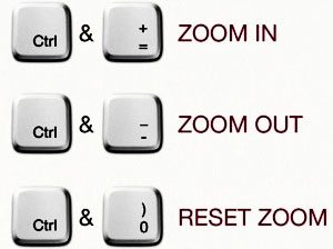 Browser zoom