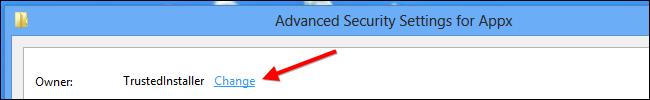 Installare app Windows su scheda SD - Passo 9: Conferire agli amministratori la proprietà della chiave di registro