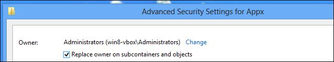 """Installare app Windows su scheda SD - Passo 11: Abilitare la casella """"Sostituisci tutte le voci di autorizzazione"""""""