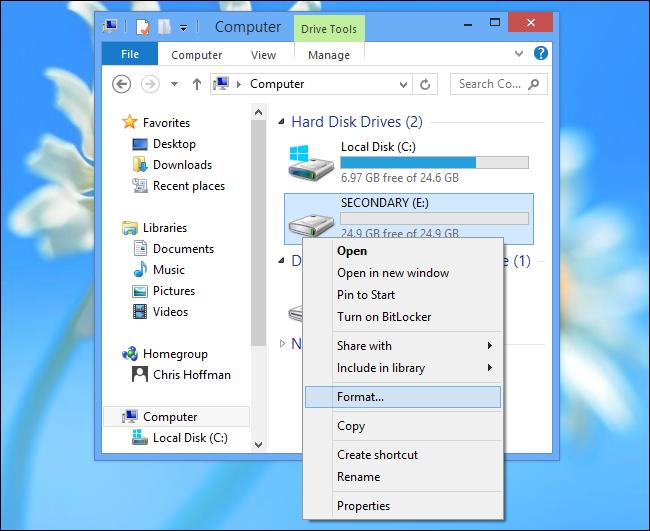 Installare app Windows su scheda SD - Passo 3: eseguire un backup per non perdere i dati