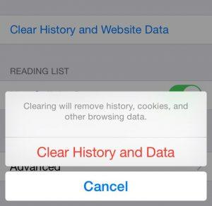 Pulizia cache safari per accellerare iPhone