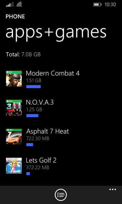 Selezionare App e Giochi