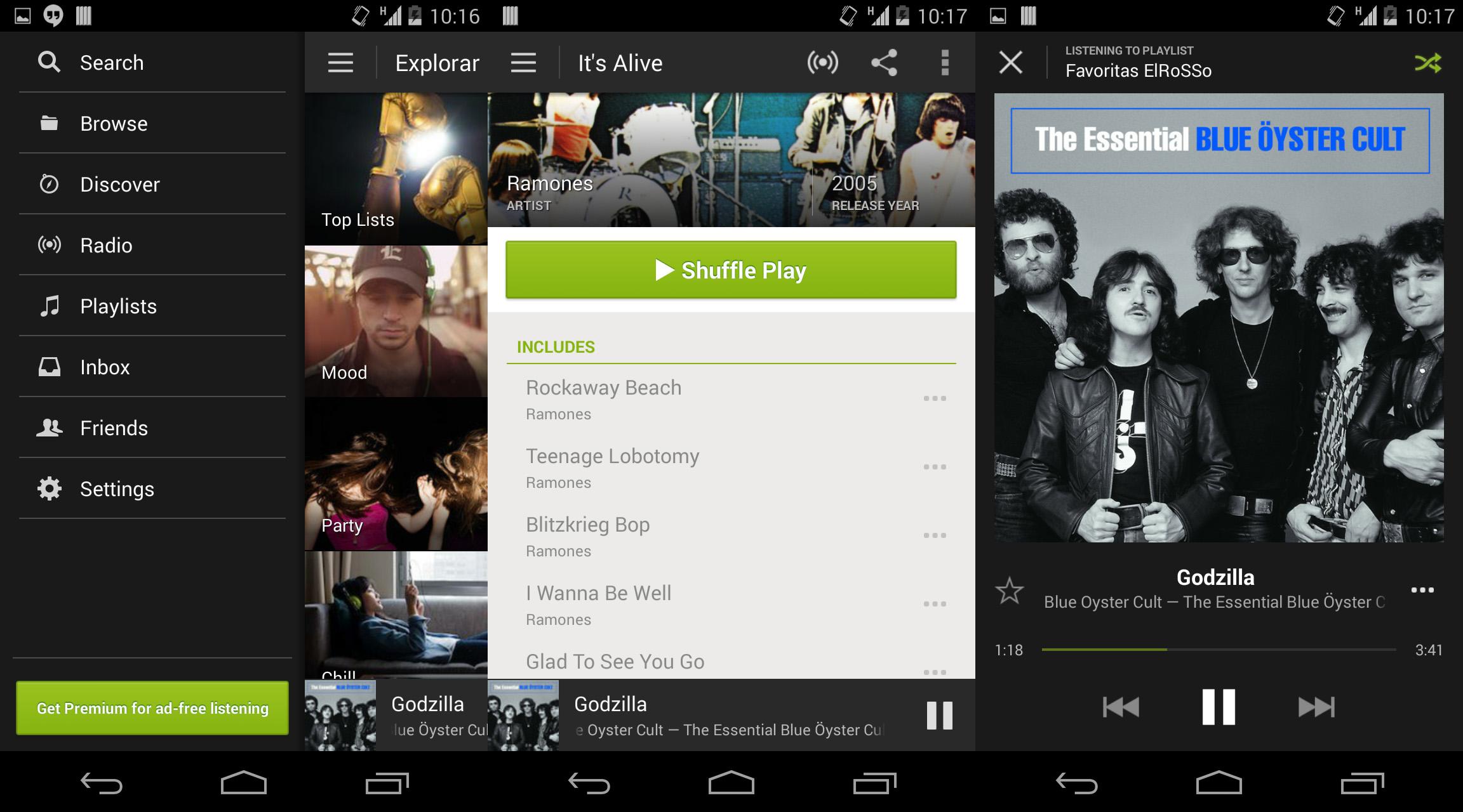 Numerose playlist da ascoltare su Spotify per Android