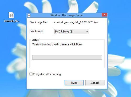 Masterizzare immagine .iso del Comodo's Disc