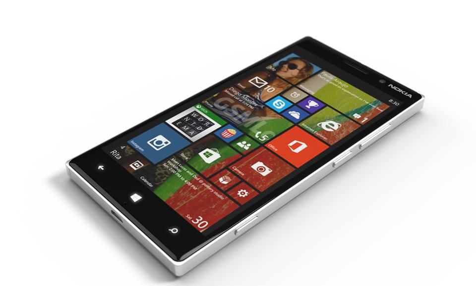 Vista dei tre pulsanti laterali Nokia Lumia 830
