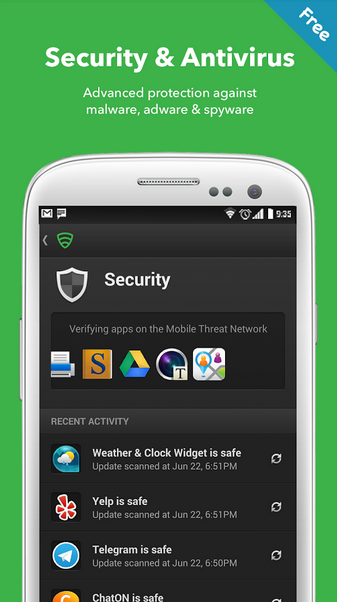 Le migliori applicazioni per accelerare lo smartphone: Lookout Security & Antivirus