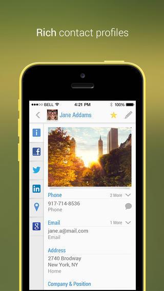 Le migliori applicazioni per accelerare lo smartphone: Contacts+