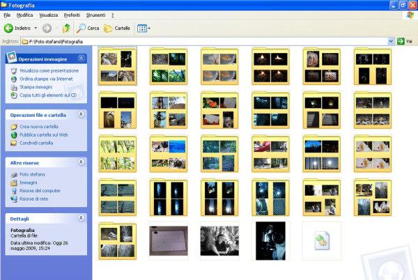 Organizzare gli scatti in cartelle è un buon modo per trovare in fretta le immagini in Windows 8