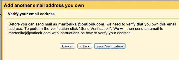 Usare Gmail per spedire e ricevere mail da altri account: verificare l'indirizzo mail