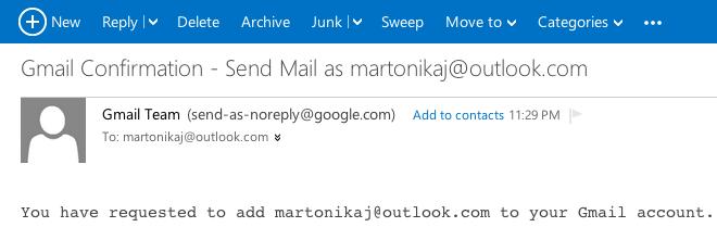 Usare Gmail per spedire e ricevere mail da altri account: la procedura di verifica dell'indirizzo mail
