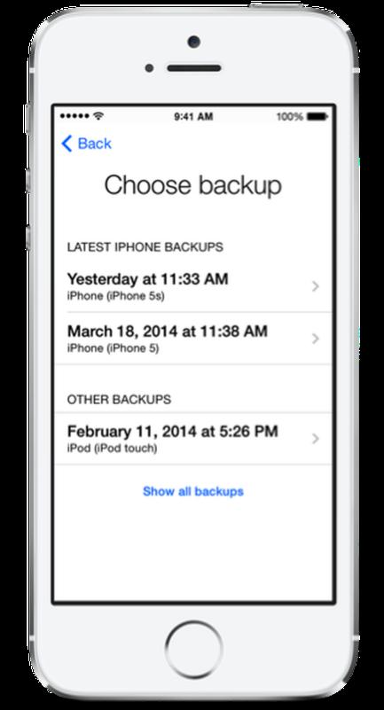 Come trasferire i contatti da un iPhone all'altro: trasferire i dati