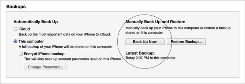 Come trasferire i contatti da un iPhone all'altro: effettuare il backup tramite iTunes