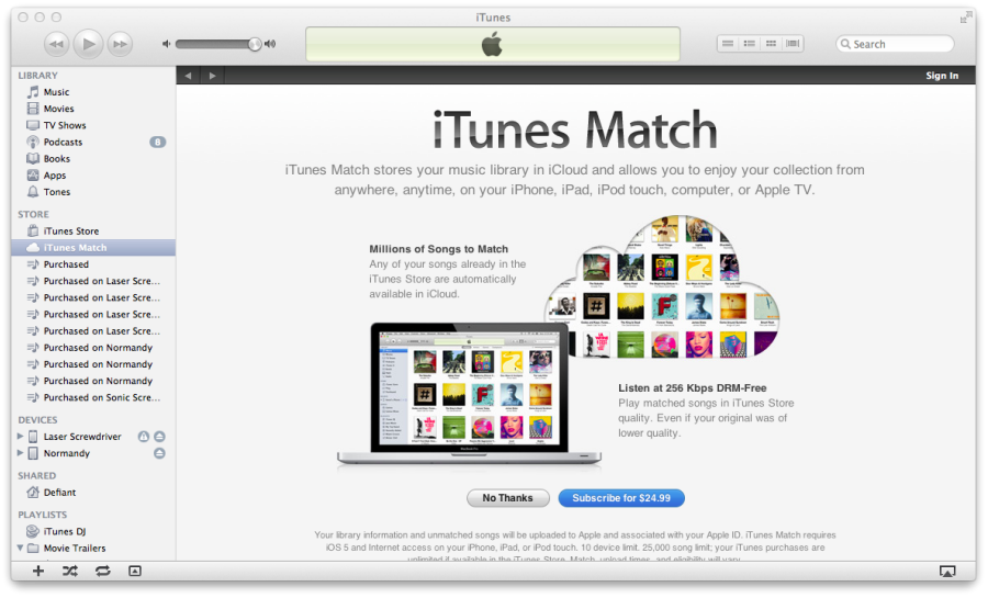 iTunes, trucchi e segreti: sincronizzare i contenuti con iTunes Match