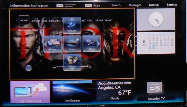 Le numerose funzionalità offerte dalla Info Bar del Panasonic Smart Viera.