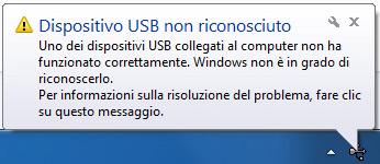 Dispositivo USB non riconosciuto: ecco cosa fare quando l'USB non funziona
