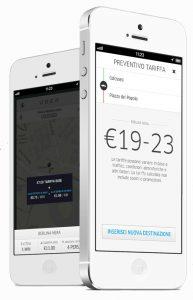 L'app di Uber permette di prenotare le corsa e anche di pagare