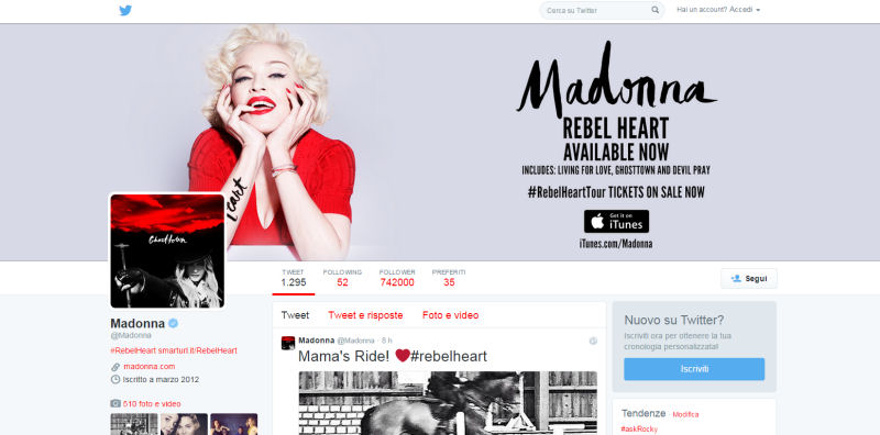 Twitter: un profilo di successo è il giusto mix di semplicità, leggibilità e immagini originali.