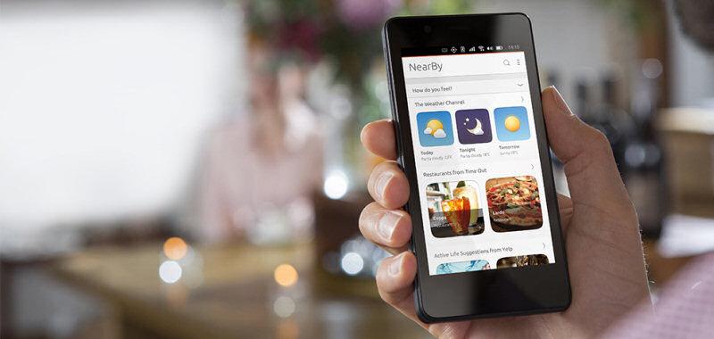 Ubuntu Touch: nessun tasto fisico. Tutti i comandi vengono impartite tramite tocchi dello schermo