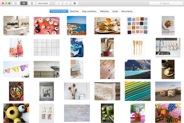Mac OS X El Capitan. Le caratteristiche: schermata app Note