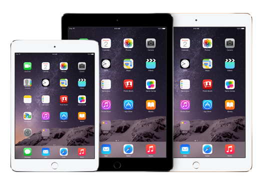 L'iPad Air 2 e l'iPad mini e
