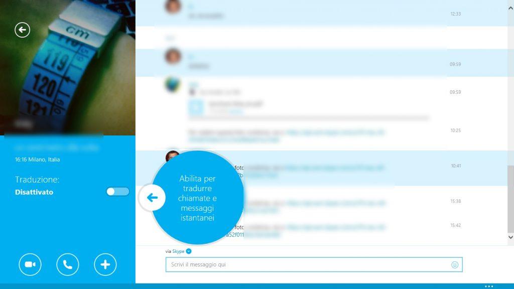 """Skype Translator, come funziona: attivando la funzione """"traduzione"""", messaggi testuali e vocali vengono tradotti automaticamente."""
