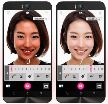Asus ZenFone Selfie: la modalità ritocco rappresenta un valido alleato per foto perfette.