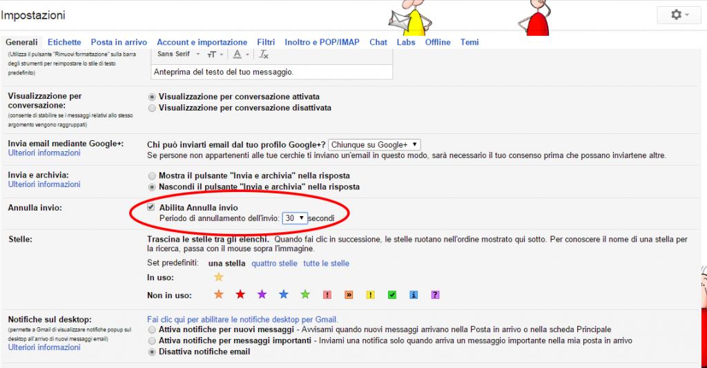 Gmail, trucchi e consigli: con la funziona Annullo Invio si hanno massimo 30 secondi per annullare l'invio di un messaggio