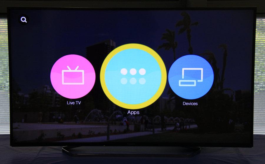 """Panasonic Viera, la nuova, essenziale interfaccia """"My Home Screen 2.0""""."""