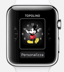 Apple Watch. Come personalizzarlo e configurare app, preferenze e contattii. Quadrante Topolino