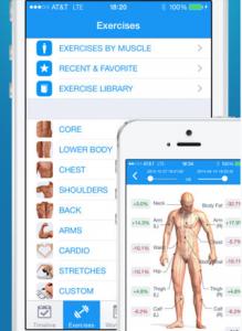 Trova l'esercizio giusto per te con Fitness Buddy. 1700 esercizi filtrabili a seconda dell'area di interesse