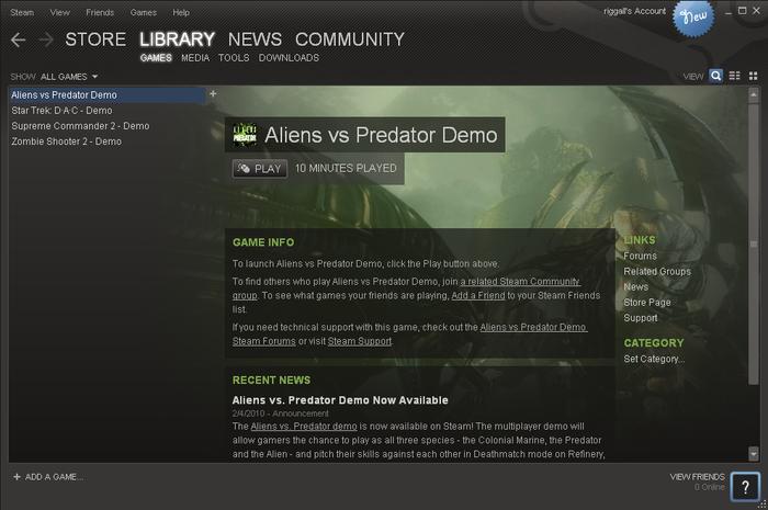 """Steam, la guida: nella pagina """"Library"""" vengono archiviati tutti i videogiochi installati dall'utente."""