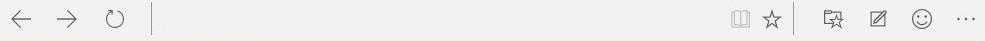Come usare Microsoft Edge: nella barra superiore troviamo le icone della Modalità lettura, Preferiti, Elenco di lettura, Note e Impostazioni. L'aspetto può essere personalizzato, ad esempio aggiungendo l'icona della home page.